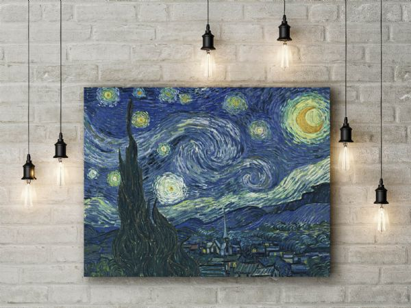 Vincent Van Gogh: Starry Night. Fine Art Canvas.